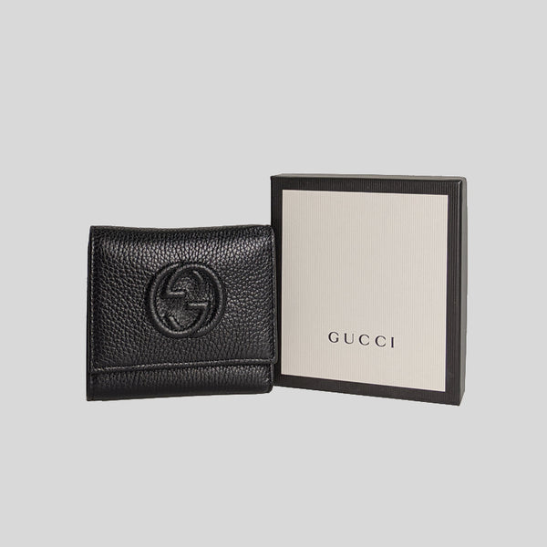 Gucci Soho Small Leather Trifold Wallet 598207