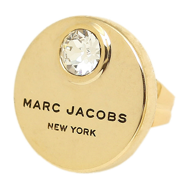 Marc Jacobs Logo Coin Stud Earrings Gold M0009789