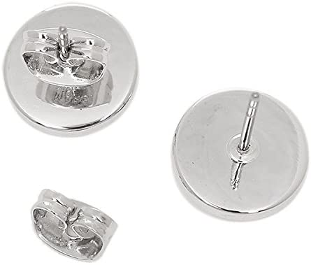 Marc Jacobs Logo Coin Stud Earrings Silver M0009789