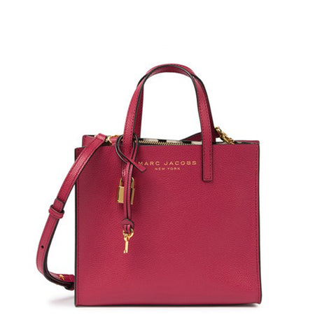 Marc Jacobs Mini Grind Coated Leather Tote Cherry M0015685