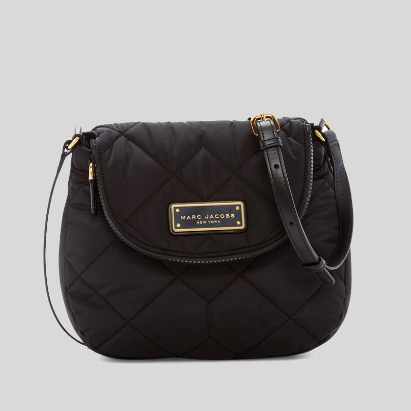 Marc Jacobs Quilted Nylon Mini Messenger Bag Black M0011379