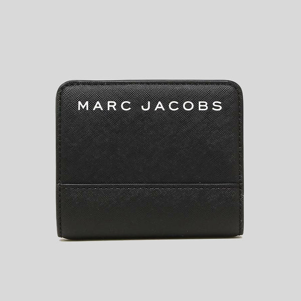 Marc Jacobs Saffiano Leather Mini Bifold Wallet Black M0015163