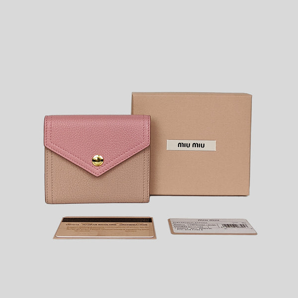 Miu Miu Madras Bicolore Small Wallet Orchidea 5MH014