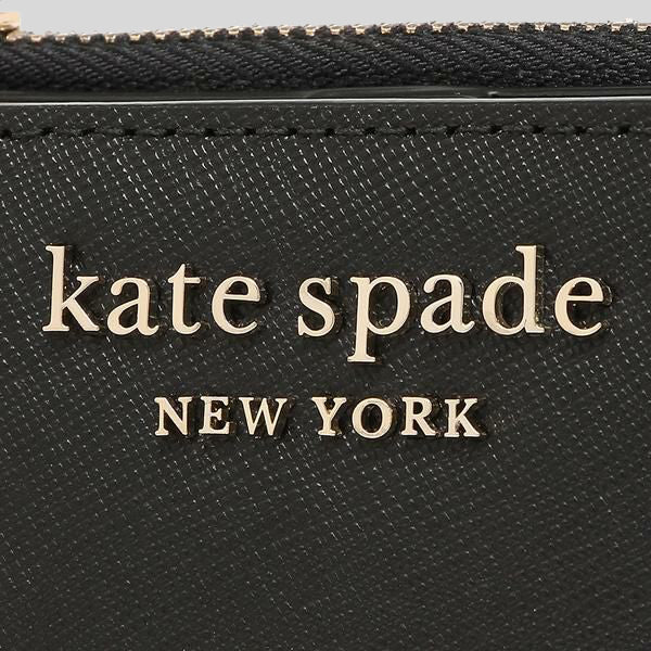 Kate Spade New York Cameron Small L-Zip Bifold Wallet WLRU6098 Black
