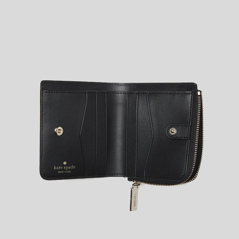 Kate Spade Staci Small L-Zip Bifold Wallet WLR00143 Black
