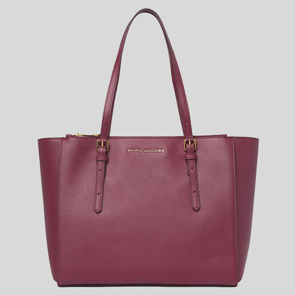 Marc Jacobs Commuter Leather Tote Bag Mulled Wine M0016410