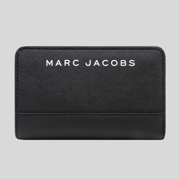 Marc Jacobs Saffiano Compact Wallet Black M0015161