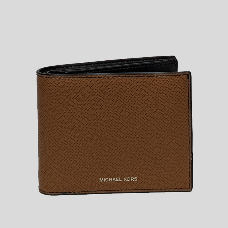 Michael Kors Harrison Leather Billfold Wallet With Passcase Luggage 36U9LHRF6L