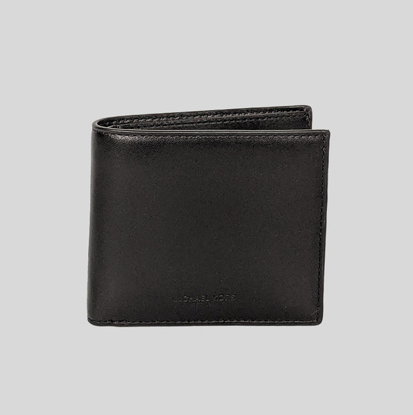 Michael Kors Odin Leather Billfold Wallet With Gift Box 39S7XOSF1L Black