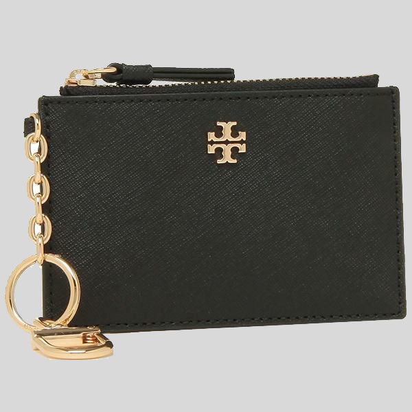 Tory Burch Emerson Case Key Ring ID Insert Black