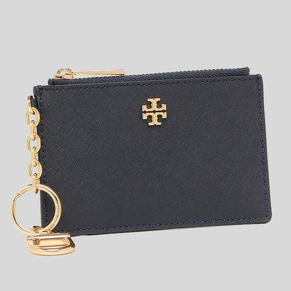 Tory Burch Emerson Case Key Ring ID Insert Tory Navy