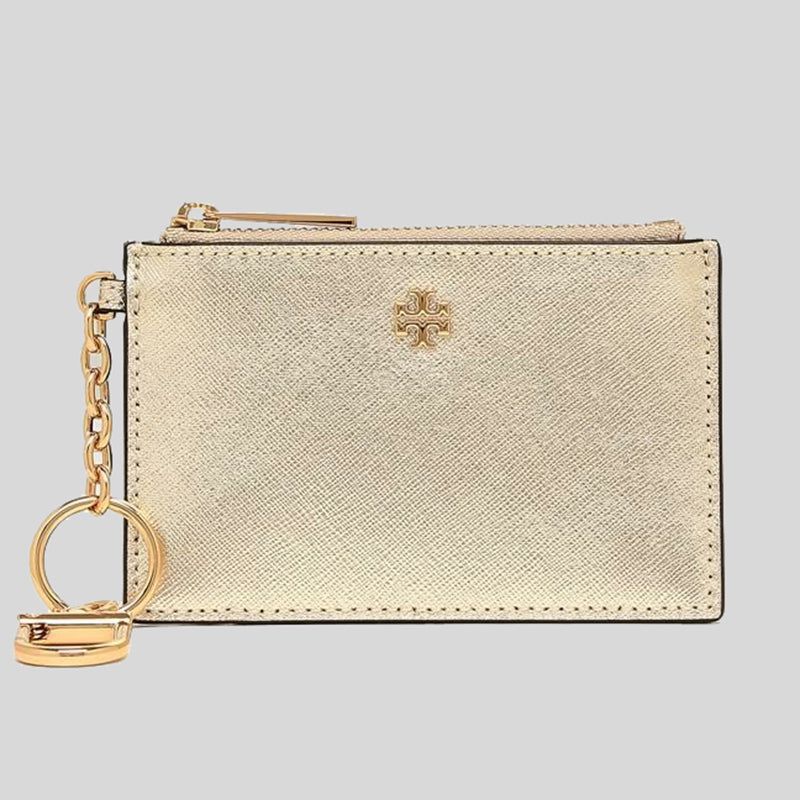 Tory Burch Emerson Case Key Ring ID Insert White Gold