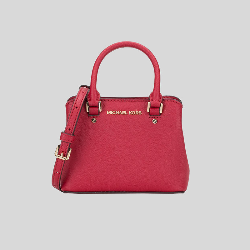 Michael Kors Giftables Savannah Leather EXTRA Mini Crossbody Scarlet