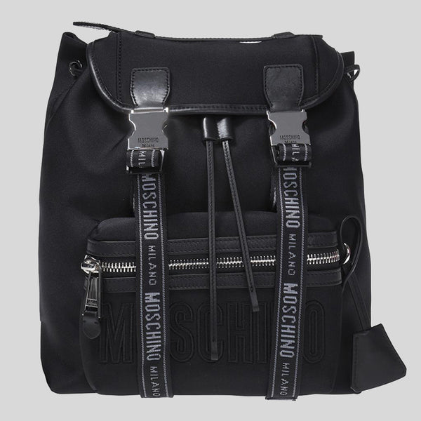 Moschino Nylon Backpack Black B7615