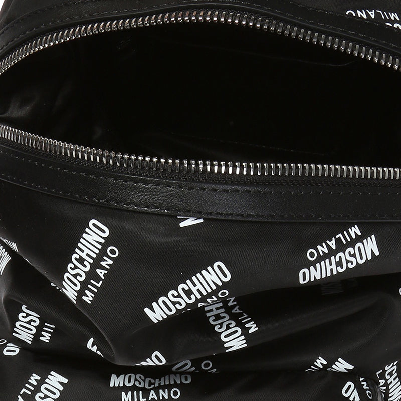 Moschino Nylon Logo Printed Backpack Black B7617