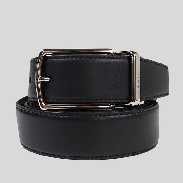 Coach Mens Modern Harness Cut-To-Size Reversible Smooth Leather Belt (F64824) Black
