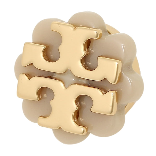 Tory Burch Logo Flower Resin Stud Earring Light Oak 41145526