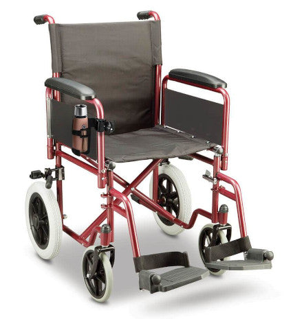 wheelchair with cup holder attached
