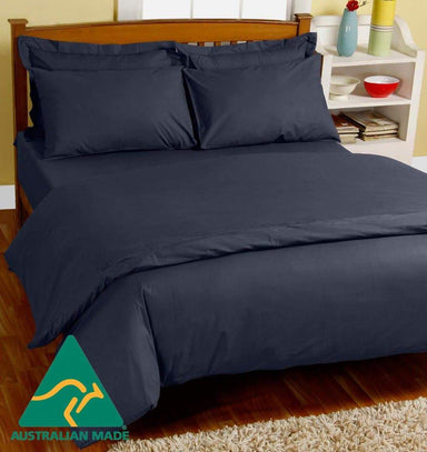 MiNappi Waterproof Doona Cover, Navy, Single Navy Blue 300525 by Kylie