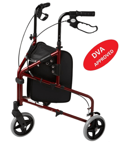 ALPHA 317 ROLLATOR Red 57007 by Quintro Health Care