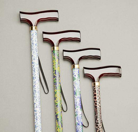 Care Quip - Walking Stick - Patterned Stem 580C - Breeze Mobility