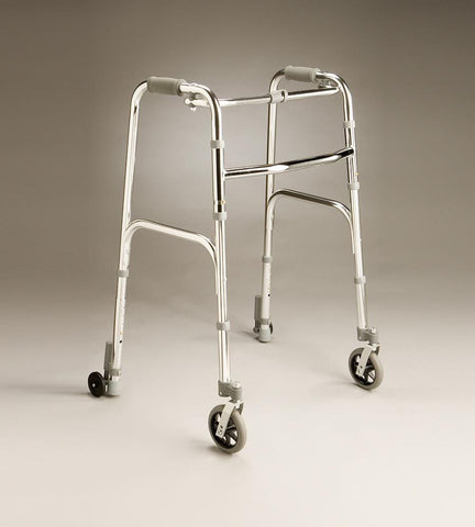 Care Quip - Lightweight Walking Frame with Front Swivel and Rear Wheels -840W, Breeze Mobility