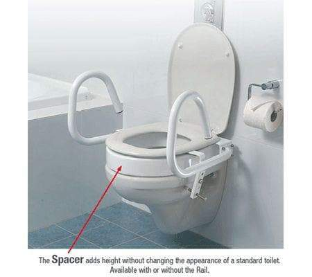 Care Quip - Throne Toilet Aid - 3 in 1 by Care Quip