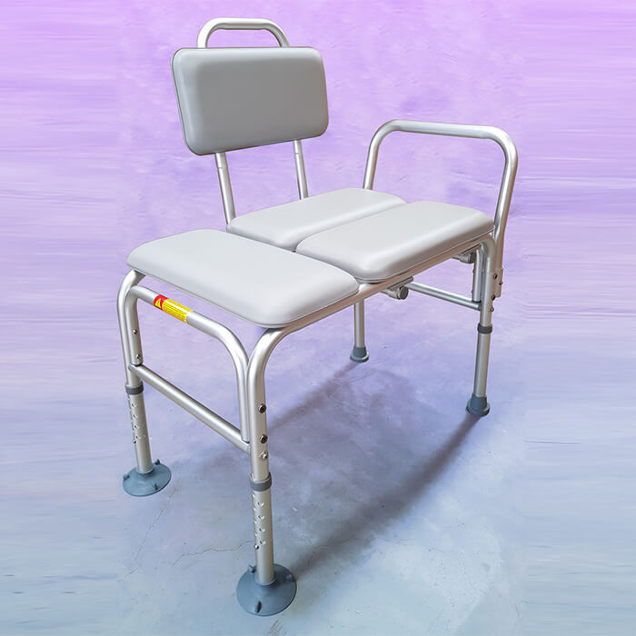 PQUIP Aluminium Padded Transfer Bath Bench
