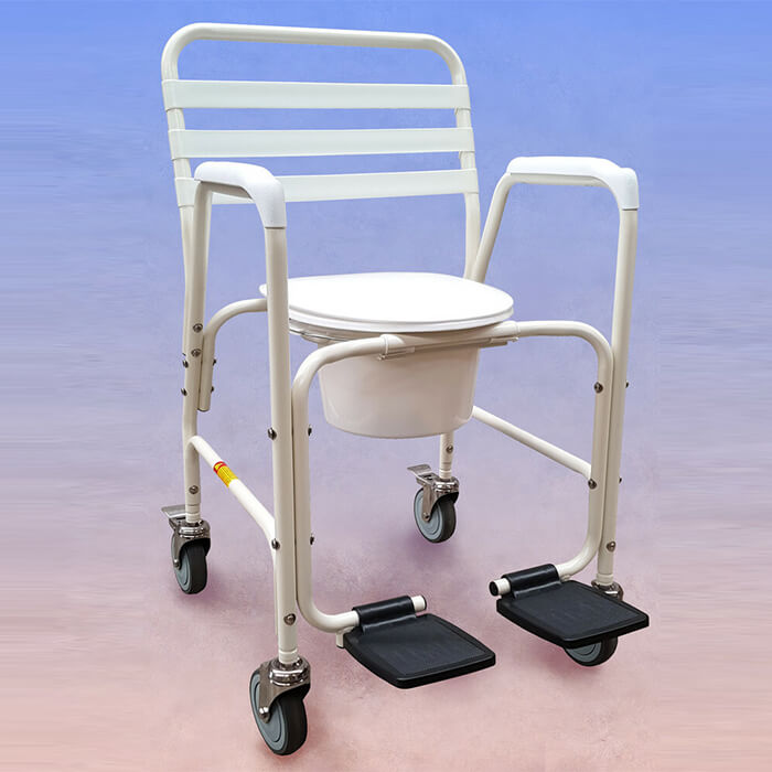 PQUIP Mobile Shower Chair Commode