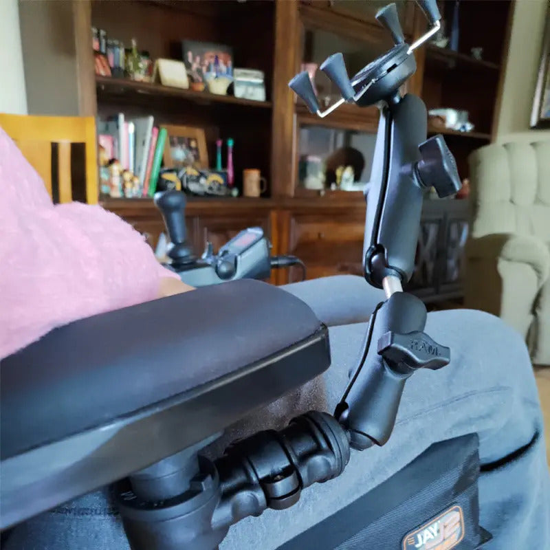 Phone Mount UN7 for Wheelchair Armrests