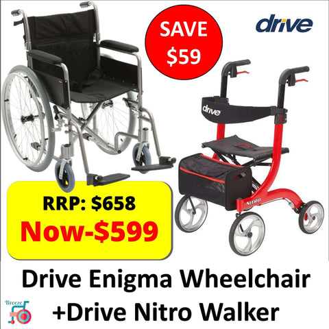 Drive Enigma Lightweight Wheelchair + Nitro Walker