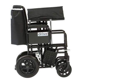 Drive - Bariatric Steel Wheelchair (200kg) BTR22BLKAU by Drive