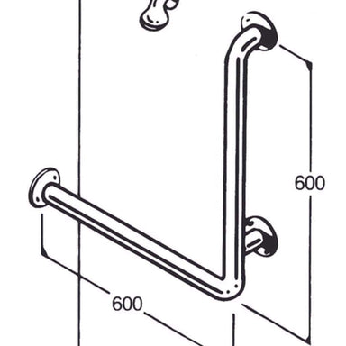 Care Quip - Bath/Shower Rail AC0590 by Care Quip