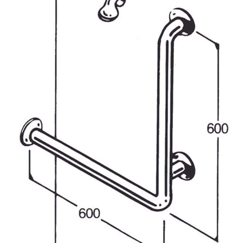 Care Quip - Bath/Shower Rail 017 - Breeze Mobility