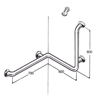 Care Quip - Bath/Shower Rail AC0510 by Care Quip