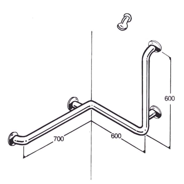 Care Quip - Bath/Shower Rail 019, Breeze Mobility