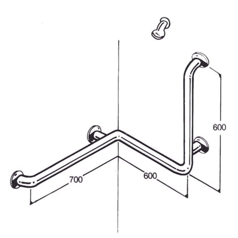 Care Quip - Bath/Shower Rail 019
