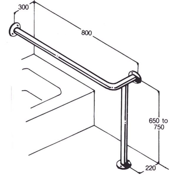 Care Quip - Bath/Shower Rail 022