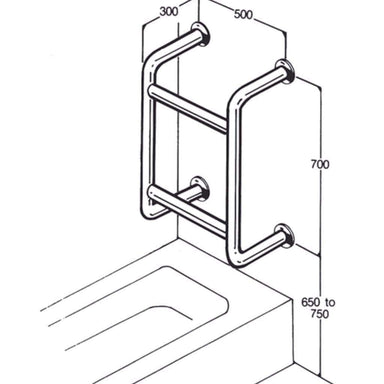 Bath/Shower Rail AC0670 by Care Quip