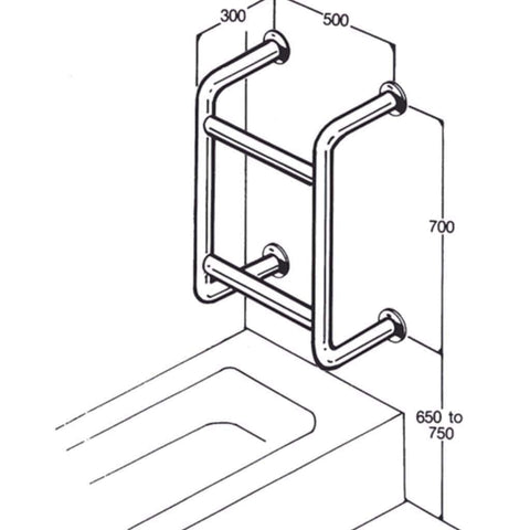 026 Bath/Shower Rail
