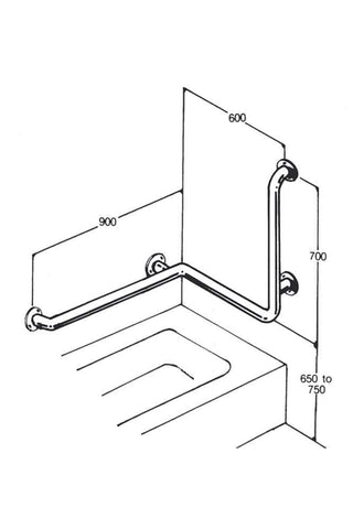 Care Quip - Bath/Shower Rail 025, Breeze Mobility
