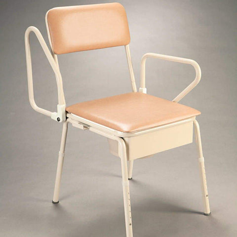 Bedside Commode Swingback Arms B1018 - Care Quip, Breeze Mobility