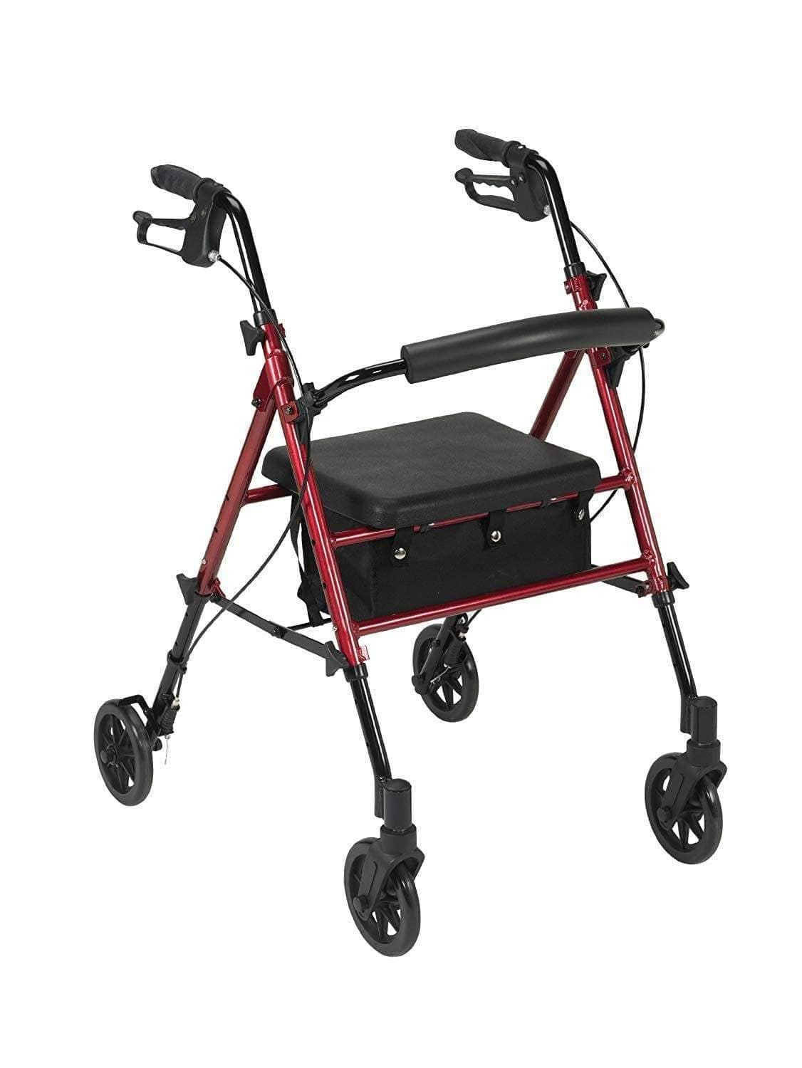 Drive - Adjustable Seat Height Walker / Rollator Spirit Red R8RDHAAU by Drive
