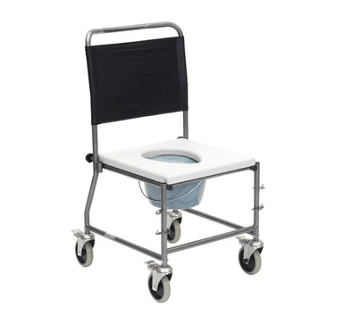 Glideabout Commode with Removable Armrests CWC004SVAU by Drive