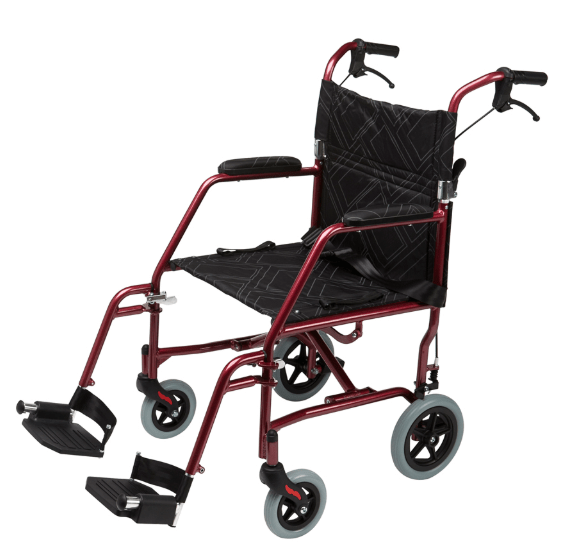 Omega LA1 Wheelchair Red 61004 by Quintro Health Care