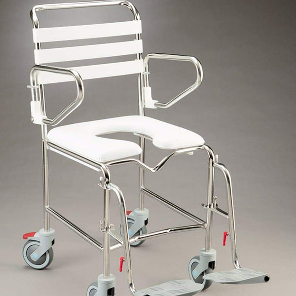Care Quip - Mobile Shower Commode Folding B1026SF, Breeze Mobility