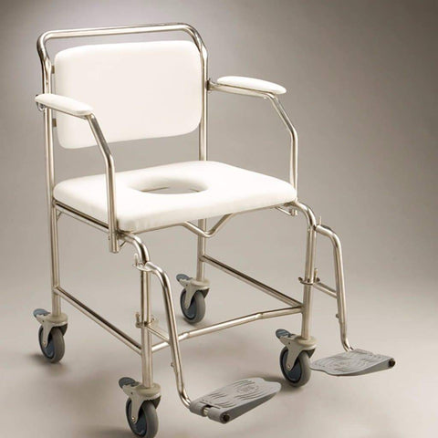 Care Quip - Mobile Shower Commode B1026W, Breeze Mobility