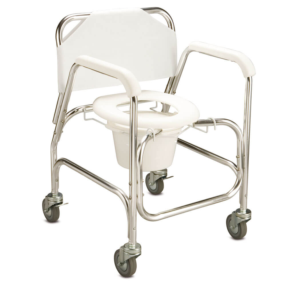 Mobile shower commode care quip