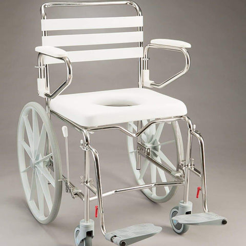 Care Quip - Mobile Shower Commode - Self Propelled Wide B1025SWA, Breeze Mobility