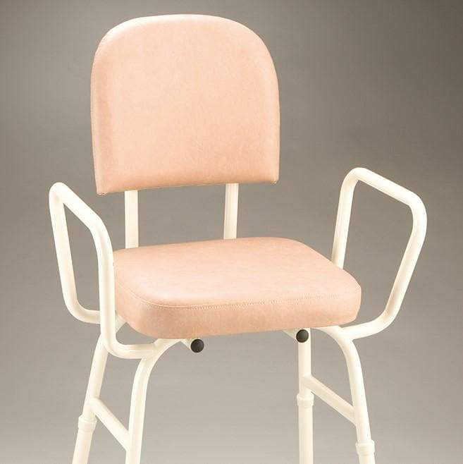 Care Quip - Perching Stool With Arms ED0770 by Care Quip